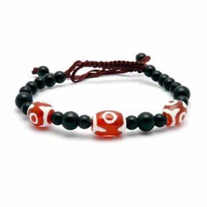 Tibetan Bracelet - dZi Beads - Style 10