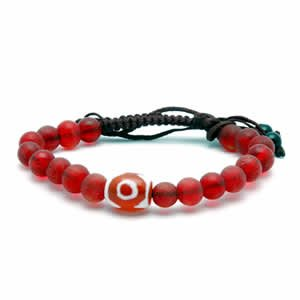 Tibetan Bracelet - dZi Beads - Style 8
