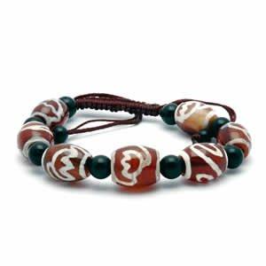 Tibetan Bracelet - dZi Beads - Style 7