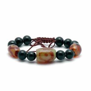 Tibetan Bracelet - dZi Beads - Style 6