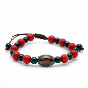 Tibetan Bracelet - dZi Beads - Style 4
