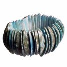 Genuine Shell Bracelet Thick - Green