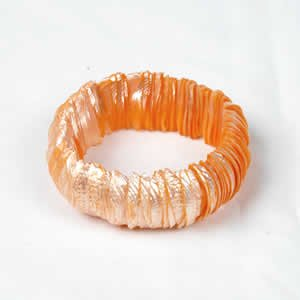Genuine Shell Bracelet Thin - Orange