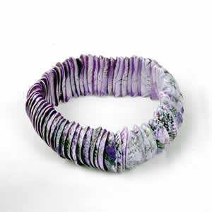 Genuine Shell Bracelet Thin - Purple