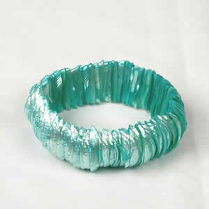 Genuine Shell Bracelet Thin - Turquoise