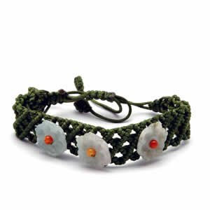 Jessica Bracelet - Three Flower Light Green