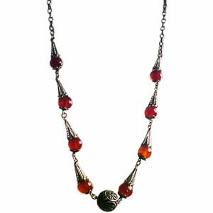 Vintage Carnelian Gemstone Necklace  - Limited Edition