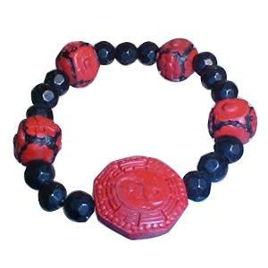 Cinnabar Bracelet - Yin Yang -Bagua