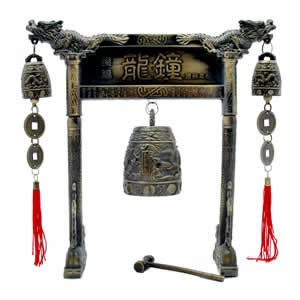Chinese Dragon Arch Gong Bell - Brass