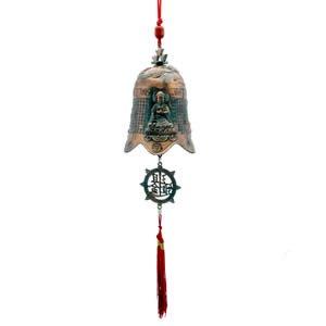 Kwan Yin (Bodhisattva) Prosperity Bell - Copper