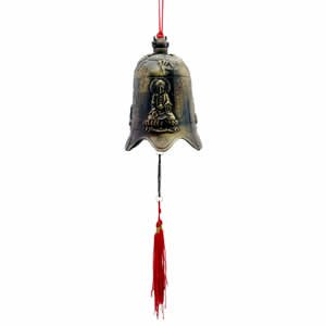 Kwan Yin (Bodhisattva) Prosperity Bell - Brass