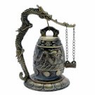 Chinese Bell Gong - Small Dragon - Brass