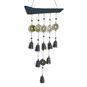 Tibetan Bell Wind Chime - Wood and Brass