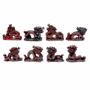 Chinese Dragons - Set of 8