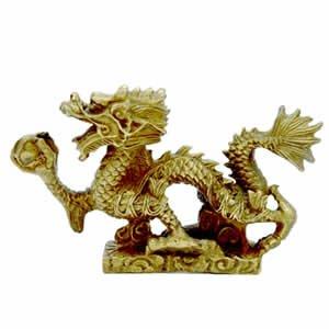 Chinese Abundance Dragon - Brass