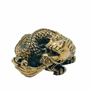 Chinese Money Dragon - Brass