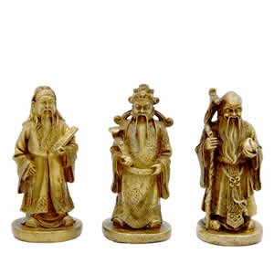 Three Immortals Set - Brass 2.5 inch