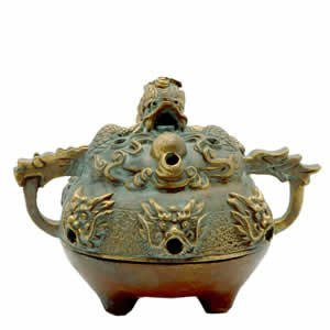 Incense Burner - Dragon - Brass