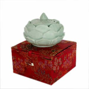 Incense Burner - Carved Soapstone Lotus