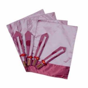 Silk Table Linen Set OF 4 - Purple - Mauve