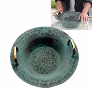 Tibetan Basin - Dragon Pattern - Large