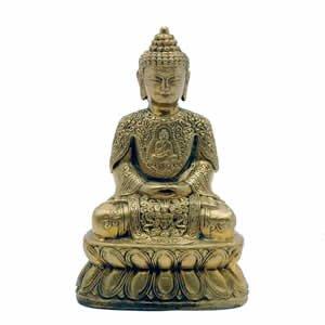 Buddha - Brass Ornate - 5 inch