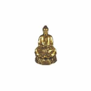 Sitting Buddha - Brass - 10 inch