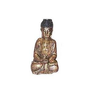 Meditating Buddha - Camphor Wood - 8.5 inch