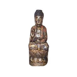 Blessing Buddha - Camphor Wood - 11.8 inch