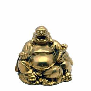 Small Sitting Ho Tai Buddha - Brass - 2.25 inch