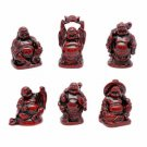 Buddha Set - Red Resin - 2 inch