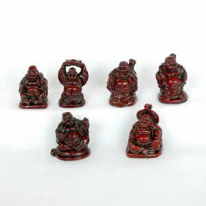Buddha Set - Gold Resin - 2 inch