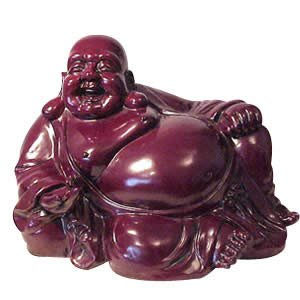 Sitting Buddha - Red Resin - 17 inch