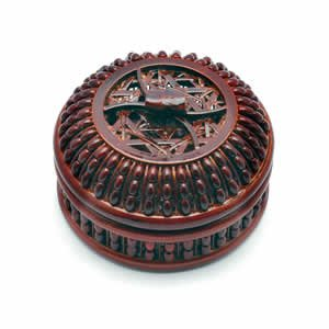 Bamboo Lacquer Box - 3.5 inch