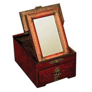 Leather Vanity Mirror Box