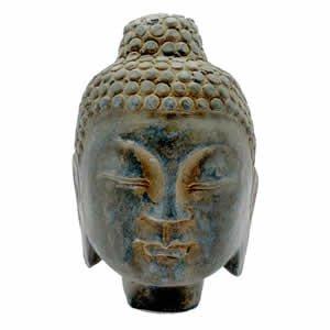 Stone Buddha Head - 9 inch