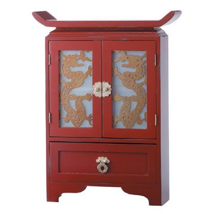 Dragon Cabinet - Wood - Red