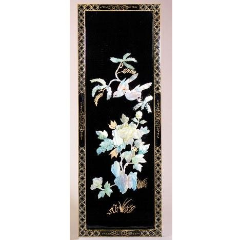 Lacquered Wood and Shell Panel - Style 1