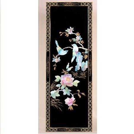 Lacquered Wood and Shell Panel - Style 2