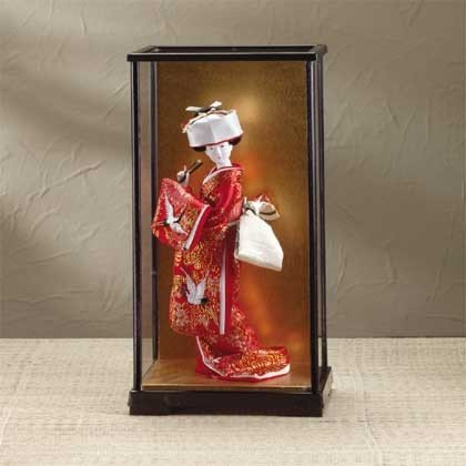 Japanese Bride Doll in Lacquer Case