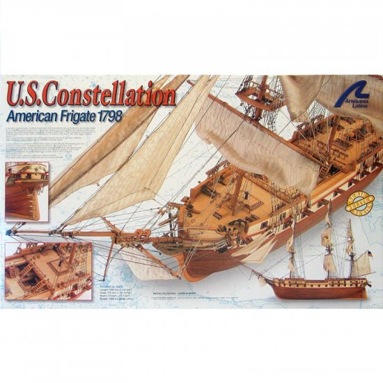 Artesania Latina US Constellation Wooden Ship Model Kit 1:85 Scale