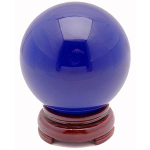 Crystal Ball - Blue - 3.2 Inches