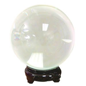 Crystal Ball - Clear - 8.7 Inches