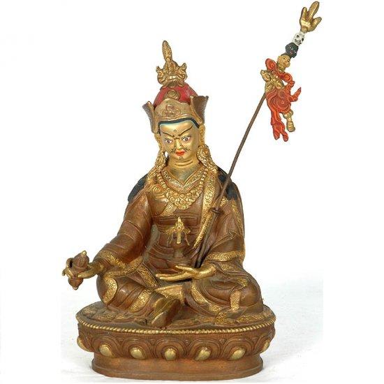 Rinpoche (Guru Padmasambhava) Sculpture - Copper