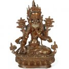 Goddess White Tara Sculpture - Copper