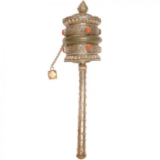 Prayer Wheel with Filigree - Sterling Silver