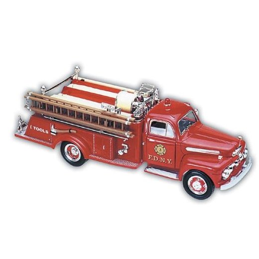 1951 FDNY Ford Fire Engine with Display Stand - 1/25 Scale