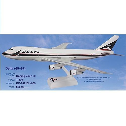 Flight Miniatures Delta 747-100 (Old Colors) (1:200)