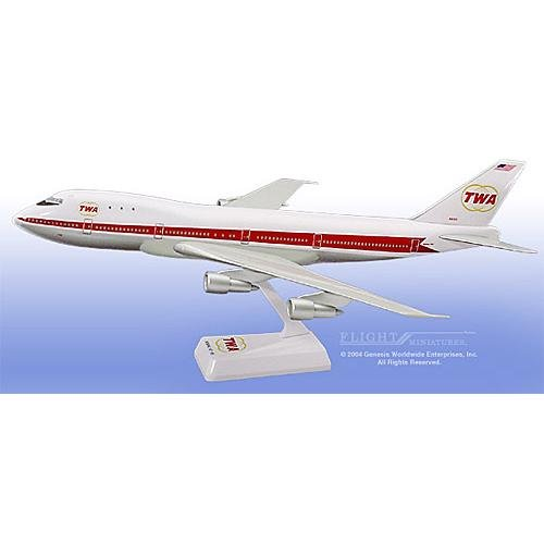 Flight Miniatures - TWA 747-100 (Old Colors) (1:200)