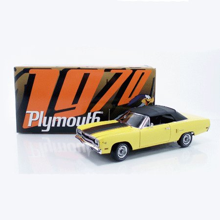 1970 Lemon Twist Plymouth Road Runner Convertible 1/18 Diecast Car Limited Edition By GMP -G1803104
